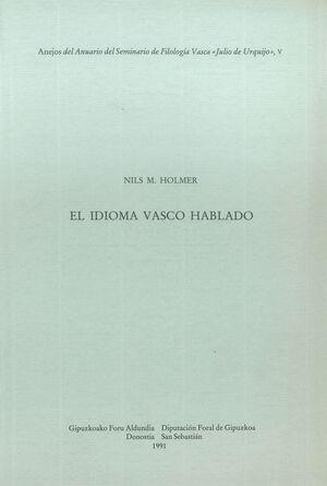 EL IDIOMA VASCO HABLADO. UN ESTUDIO DE DIALECTOLOGÍA VASCA
