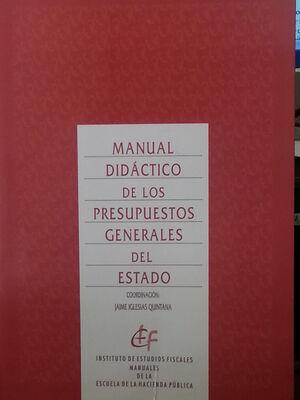 MANUAL DIDÁCTICO DE LOS PRESUPUESTOS GENERALES DEL ESTADO