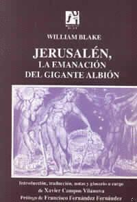 JERUSALEN, LA EMANACIÓN DEL GIGANTE ALBIÓN