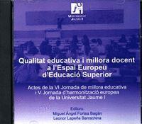 QUALITAT EDUCATIVA I MILLORA DOCENT A L'ESPAI EUROPEU D´EDUCACIÓ SUPERIOR