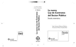 LA NUEVA LEY DE CONTRATOS DEL SECTOR PÚBLICO ESTUDIO SISTEMÁTICO