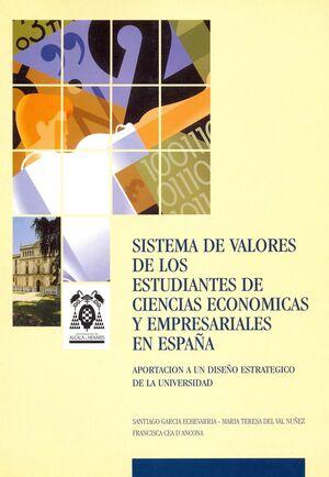 SISTEMA DE VALORES DE LOS ESTUDIANTES DE CIENCIAS ECONÓMICAS Y EMPRESARIALES EN ESPAÑA
