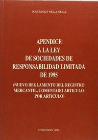 APÉNDICE A LA LEY DE SOCIEDADES DE RESPONSABILIDAD LIMITADA DE 1995 NUEVO REGLAMENTO DEL REGISTRO ME