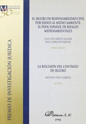 EL SEGURO DE RESPONSABILIDAD CIVIL POR DAÑOS AL MEDIO AMBIENTE EL POOL ESPAÑOL DE RIESGOS MEDIOAMBIE