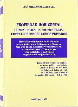 PROPIEDAD HORIZONTAL, COMUNIDADES DE PROPIETARIOS, COMPLEJOS INMOBILIARIOS PRIVADOS SNTESIS Y ORDEN