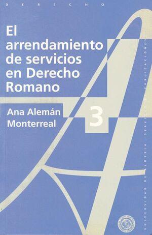 EL ARRENDAMIENTO DE SERVICIOS EN DERECHO ROMANO