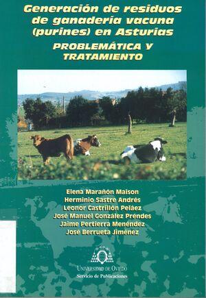 GENERACIÓN DE RESIDUOS DE GANADER¡A VACUNAS (PURINES) EN ASTURIAS