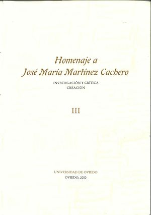 HOMENAJE A JOSÉ MARÍA MARTÍNEZ CACHERO III