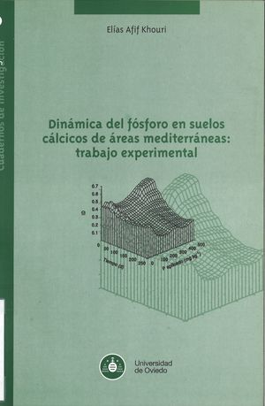 DINÁMICA DEL FÓSFORO EN SUELOS CÁLCICOS DE ÁREAS MEDITERRÁNEAS