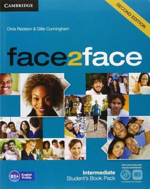 FACE2FACE FOR SPANISH SPEAKERS INTERMEDIATE STUDENT'S PACK(STUDENT'S BOOK WITH DVD-ROM, SPANISH SPEAKERS HANDBOOK WITH AUDIO CD,ONLINE WORKBOOK) 2ND E
