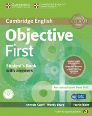 OBJECTIVE FIRST FOR SPANISH SPEAKERS SELF-STUDY PACK (STUDENT'S BOOK WITH ANSWERS, CLASS CDS (3)) 4TH EDITION