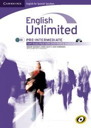 ENGLISH UNLIMITED FOR SPANISH SPEAKERS PRE-INTERMEDIATE SELF-STUDY PACK (WORKBOOK WITH DVD-ROM AND AUDIO CD)