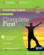 COMPLETE FIRST FOR SPANISH SPEAKERS STUDENT'S BOOK WITH ANSWERS WITH CD-ROM 2ND EDITION