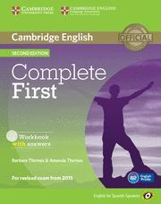 COMPLETE FIRST FOR SPANISH SPEAKERS WORKBOOK WITH ANSWERS WITH AUDIO CD 2ND EDITION