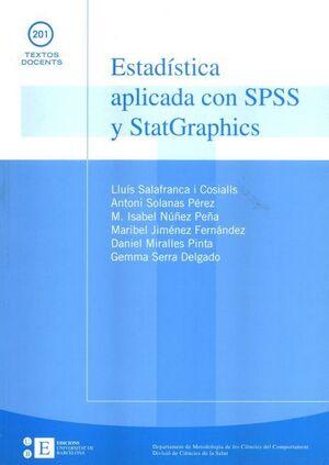 ESTADÍSTICA APLICADA CON SPSS Y STATGRAPHICS