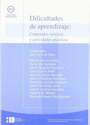DIFICULTADES DE APRENDIZAJE: CONTENIDOS TEÓRICOS Y ACTIVIDADES PRÁCTICAS