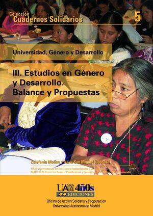 ESTUDIOS EN GÉNERO Y DESARROLLO