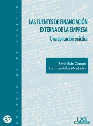 LAS FUENTES DE FINANCIACIÓN EXTERNA EN LA EMPRESA