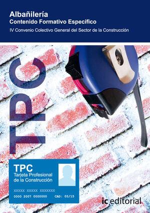 TPC - ALBAÑILERÍA. CONTENIDO FORMATIVO ESPECÍFICO