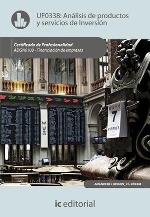 ANÁLISIS DE PRODUCTOS Y SERVICIOS DE INVERSIÓN. ADGN0108 - FINANCIACIÓN DE EMPRESAS