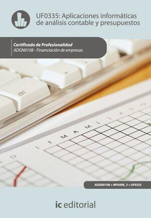 APLICACIONES INFORMÁTICAS DE ANÁLISIS CONTABLE Y PRESUPUESTOS. ADGN0108 - FINANCIACIÓN DE EMPRESAS