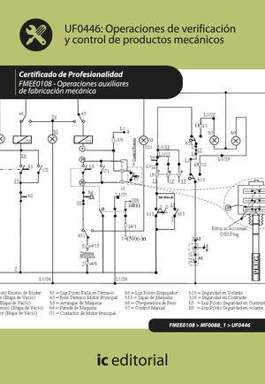 OPERACIONES DE VERIFICACIÓN Y CONTROL DE PRODUCTOS MECÁNICOS. FMEE0108 - OPERACIONES AUXILIARES DE FABRICACIÓN MECÁNICA