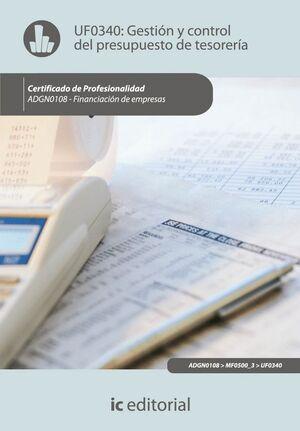 GESTIÓN Y CONTROL DEL PRESUPUESTO DE TESORERA. ADGN0108 - FINANCIACIÓN DE EMPRESAS