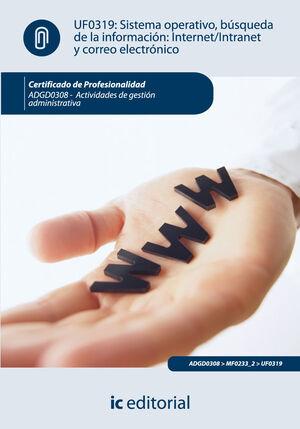 SISTEMA OPERATIVO, BÚSQUEDA DE INFORMACIÓN: INTERNET/INTRANET Y CORREO ELECTRÓNICO. ADGD0308 - ACTIVIDADES DE GESTIÓN ADMINISTRATIVA