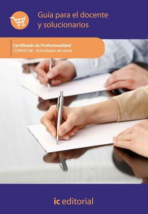ACTIVIDADES DE VENTA. COMV0108 GUA PARA EL DOCENTE Y SOLUCIONARIOS