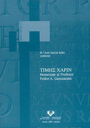 TIMH_ XAPIN. HOMENAJE AL PROFESOR PEDRO A. GAINZARAIN