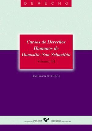 CURSOS DE DERECHOS HUMANOS DE DONOSTIA - SAN SEBASTIÁN. VOLUMEN III