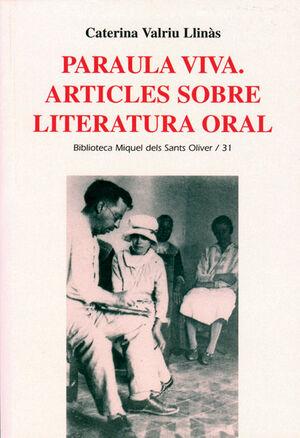 PARAULA VIVA. ARTICLES SOBRE POESIA ORAL