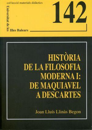 HISTÒRIA DE LA FILOSOFIA MODERNA I: DE MAQUIAVEL A DESCARTES