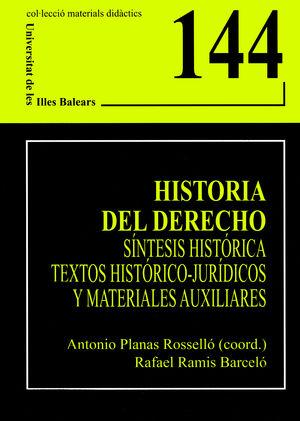 HISTORIA DEL DERECHO.