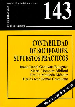 CONTABILIDAD DE SOCIEDADES. SUPUESTOS PRÁCTICOS (SEGUNDA EDICIÓN)