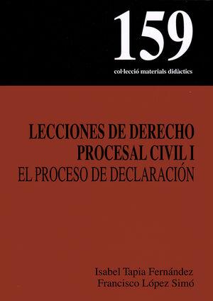 LECCIONES DE DERECHO PROCESAL CIVIL I