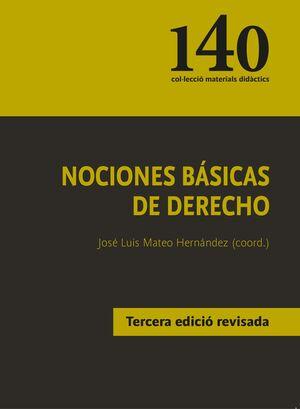 NOCIONES BÁSICAS DE DERECHO (TERCERA EDICIÓ REVISADA)