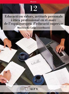 EDUCACIÓ EN VALORS, ACTITUDS PERSONALS I ÈTICA PROFESSIONAL EN EL MARC DE L´ESPAI EUROPEU D´EDUCACIÓ