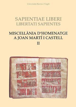 MISCEL·LÀNIA D'HOMENATGE A JOAN MARTÍ I CASTELL (II)