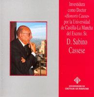 HONORIS CAUSA D. SABINO CASSESE