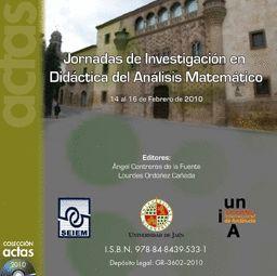 JORNADAS DE INVESTIGACIÓN EN DIDÁCTICA DEL ANÁLISIS MATEMATICO
