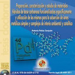 PREPARACIÓN, CARACTERIZACIÓN Y ESTUDIO DE MATERIALES HÍBRIDOS DE BASE CARBONOSA FUNCIONALIZADOS ESPE