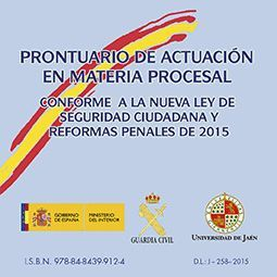 PRONTUARIO DE ACTUACIÓN EN MATERIA PROCESAL CONFORME A LA NUEVA LEY DE SEGURIDAD CIUDADANA Y REFORMAS PENALES DE 2015