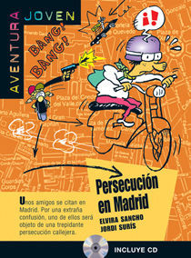 COLECCIÓN AVENTURA JOVEN. PERSECUCIÓN EN MADRID. LIBRO + CD