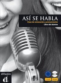 ASI SE HABLA LIBRO DEL ALUMNO CD
