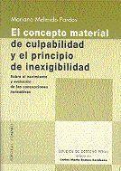 CONCEPTO MATERIAL DE CULPABILIDAD,EL