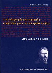 MAX WEBER Y LA INDIA