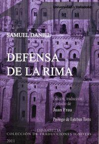 DEFENSA DE LA RIMA DE SAMUEL DANIEL