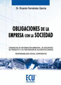 OBLIGACIONES DE LA EMPRESA CON LA SOCIEDAD