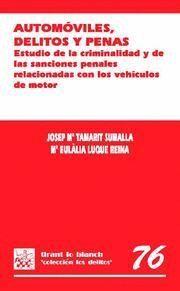 AUTOMÓVILES , DELITOS Y PENAS . ESTUDIO DE LA CRIMINALIDAD Y DE LAS SANCIONES PENALES RELACIONADAS C